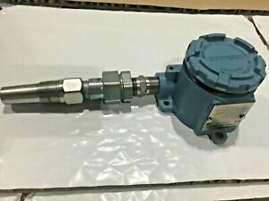 Rosemount 644 Hart Smart Temperature Transmitter 100 Ohm 4 Wire RTD & Thermowell