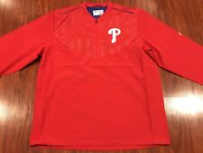 Majestic Men's Philadelphia Phillies On Field Training LS Jacket Jersey XL MLB