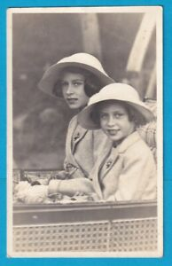 Real Photo Postcard PRINCESS ELIZABETH & PRINCESS MARGARET