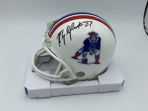 Rob Gronkowski Signed New England Patriots 1980s Classic Mini Helmet COA Holo