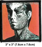"Vintage 2003 Rolling Stones Tattoo You Mick Embroidered Iron-On Patch 3""x 3"" New"