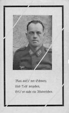 STERBEBILD   AVIS DE  DECES  SOLDAT  ALLEMAND    FRANCE  1944  ( 228 )