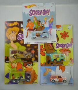 Hot Wheels Pop Culture Scooby-Doo 5 Car Complete Set T1 Panel Mystery Machine (2