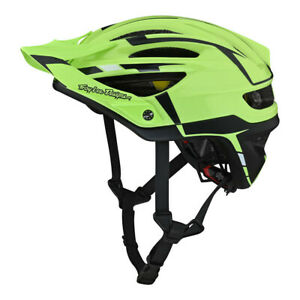 TLD Troy Lee Designs A2 Silver Mountain Bike Helmet Bicycle XC Green Gray