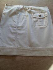ICONIC JEAN PAUL GAULTIER Cream Jean Style Skirt UK 12 IT 44