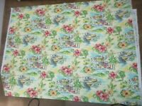 VINTAGE WAVERLY SCREEN PRINT FABRIC CABANA VILLAGE SUN N SHADE 2+ Yards