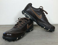NIKE SP5III Men's 9.5 Brown Leather Sport Performance Golf Shoes 314908-221