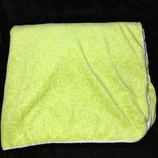 Just One You Green White Sherpa Elephant Baby Blanket Velour 2012 Carters
