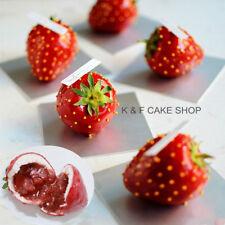 15 X Erdbeere Silikonform Obst Kuchenform Puddingform Schokoladenform Backform