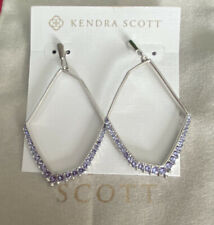 NWT Kendra Scott Nell Earrings Rhodium Lilac Crystal $85.00