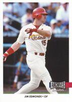 2017 Topps Archives Snapshots #AS-JE Jim Edmonds St. Louis Cardinals