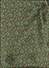 """Heaven On Earth"" Print rusty red aqua green gold on aqua Fabric by Ro Gregg"