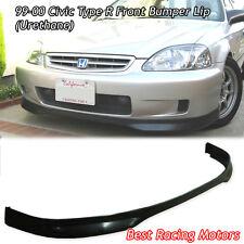 TR Style Front Bumper Lip (Urethane) Fits 99-00 Honda Civic 2dr