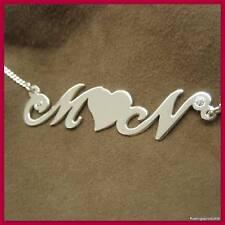 Buchstabenkette mit Herz, 925er Silber,  Namenskette