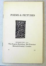 Robert Duncan POEMS & PICTURES #2 1954 Poetry Magazine James Schevill