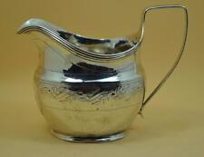 Crema de plata esterlina georgiano Jarra de leche Alice & George madrigueras Londres 1807