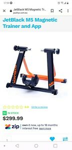 Jet Black magnetic indoors bicycle trainer. Used five times only.