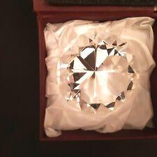 Optic Crystal Diamond 3 1/8 inch Paperweight Wedding Display Award in gift box