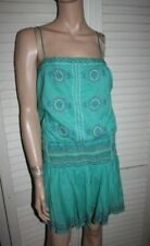 BCBG MaxAzria Embroidered Tunic Mini Dress 10