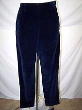 Lizwear Blue Velour 100% Cotton Casual Pants Womens Size 10 Medium