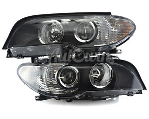 BMW 3 SERIES E46 2003-2006 HALOGEN HEADLIGHT LEFT AND RIGHT SIDE ORIGINAL NEW