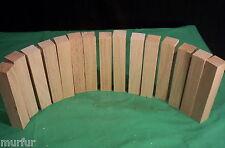 "15 Piece Red Oak Pen Turning Spindle Lathe Craft Lumber  1 x 1 x 5.5"""