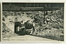Vintage RPPC Byron Harmon #986. Lower Spiral Tunnel