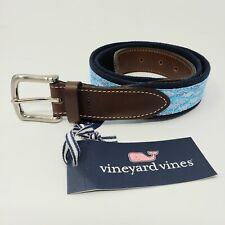 Vineyard Vines Moonshine Crossed Hockey Sticks Canvas Club Belt Sz 38 /& 42 NWT