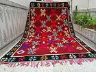 Moroccan Handmade Rug Vintage Beni Ourain Wool Rug Azilal Berber Carpet