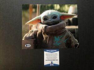 John Rosengrant Rare! signed autographed Baby Yoda 8x10 photo Beckett BAS coa