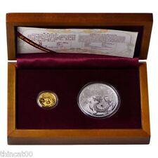 China 2012 Dragon Gold and Silver Coins Set