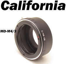Minolta MD MC Lens Mount Adapter to Micro 4/3 M4/3 M43 GH1 GF3 G1 EP1 EP2 E-P1L