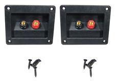 2 Pack Procraft LHT105 Speaker Term. Cup W/Gold Plate Binding Posts - Mtg Screws
