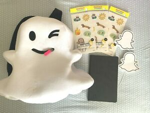 🔥NEW Official Snapchat Snap Ghost 👻 Backpack Plush Ghostface~Stickers & more🔥