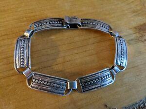 Silver Bracelet Oxedised Tribal 925