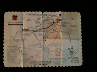 VINTAGE HOWARD JOHNSON'S Paper Placemat Oklahoma Philips 66 Turnpike