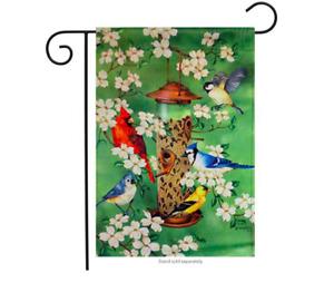 Illusions Bird Feeder Bliss Decorative Garden Everyday Flag 12.5x18 NIP Cardinal