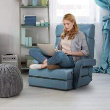 Klappsessel Bodenstuhl mit Kissen Lazy Sofa Bodenkissen Schlafsessel verstellbar