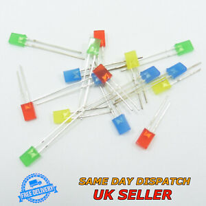 Square 2mmx5mmx7mm Diffused LED Diode Super Bright Light Emitting