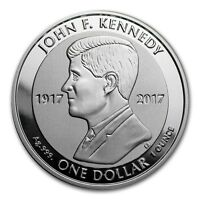 British Virgin Islands  1 Dollar Argent 1 Once JF Kennedy 2017 1 Oz silver coin