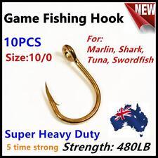 10x 10/0 Big Game Fishing Hook Super Heavy Duty 480LB Marlin Tuna Kingfish Shark