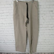 Babette Red Square Pants Womens Small Beige 100% Linen