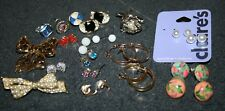 Lot of 14 Earring Sets Hoops & Posts 3 Pins and 3 Tie Tacks