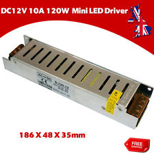 DC12V 120W 10A LED MiniStrip Lights Switch Power Supply Driver Adapter Convertor