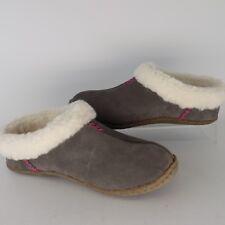Sorel  Nakiska Suede Slide Shale/Tart Women's Slippers Size 5 EU 36 AL3181
