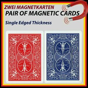 ZauberTrick Pair of Real Bicycle PK MAGNETIC CARDS /  Zwei Magnetkarten