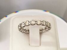 3.25 Ct Round cut 14K White gold anniversary Eternity Band diamond ring Vvs2