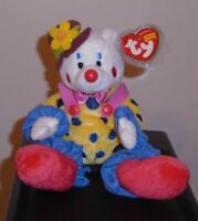 Ty Beanie Baby - JUGGLES the Clown Bear (8 Inch) MINT with MINT TAGS