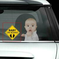 """baby On Board"" Warning Sticker Car Sticker Window Reflective Decoration M7H3"