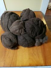 Wool; roving: natural color, natural fiber for spinning or felting, 48ozs./3lbs.